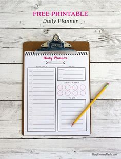 Printable Daily Plan