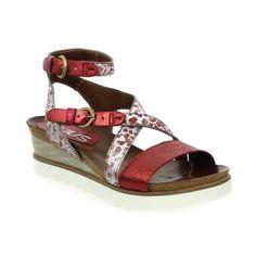 91c335b38d2  Bessec Sandales  MJUS MARIA Rouge à 115€ sur bessec-chaussures.com