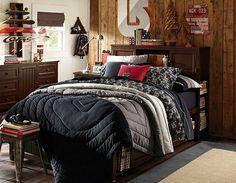 Andrew bedding? Skateboard Bedroom, Colorblock Bedding & Burton Bedroom | PBteen