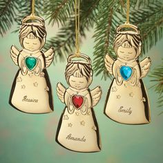 Personalized Angel Christmas Ornaments - Zoom