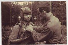 Red Army,Tankman being rewarded.