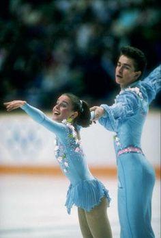 Ekaterina Gordeeva and Sergei Grinkov 1988 Olympics.