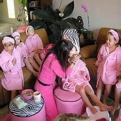 spa party ideas for girls birthday - Bing Images                                                                                                                                                                                 More