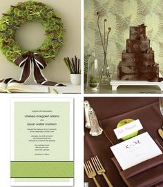 . Green and brown Wedding Ideas   What do you think?