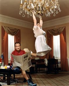 Favorite Shoots with Elisabeth Biondi : The New Yorker | swinging from the #chandelier featuring Robin Williams