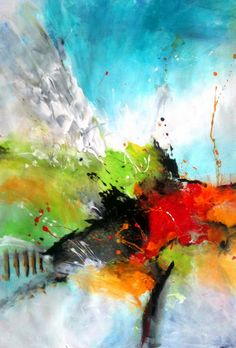 Dan Bunea, living abstract paintings