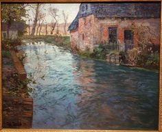 Frits Thaulow - River in Normandy (1894)