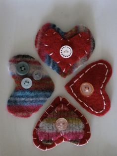 Heart Barrettes