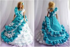 doll dress ideas by crochet