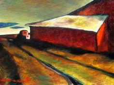 """""""Western Washington Landscape"""" - Z.Z. Wei, Oil on canvasboard, 9 x 12 inches"""