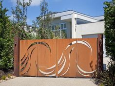 Love this front entry gate.