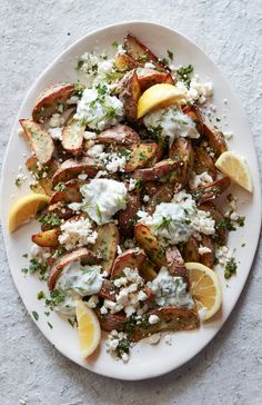 The most glorious Greek Fries from www.whatsgabycooking.com (@whatsgabycookin)