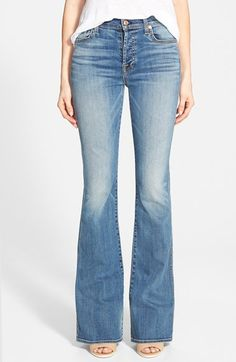 7+For+All+Mankind®+High+Rise+Bootcut+Jeans+(Sloan+Heritage+Medium+Light)+available+at+#Nordstrom