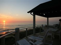 Sunrise from the deck of this oceanfront home in Duck, NC