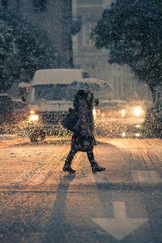 coffee,snow&street lamps