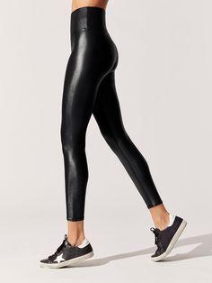 cd58599451874 High Waisted 7/8 Length Takara 7/8 Length Leggings in Black by Carbon38