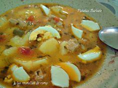"""Patatas barbate"" Carrot Recipes, My Recipes, Favorite Recipes, Banana Colada, Patatas Guisadas, How To Cook Broccoli, Cooking Broccoli, Relish Recipes, Spanish Dishes"
