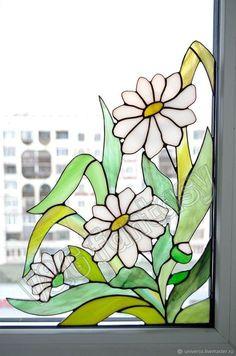 How To Make Beach Glass art - Beach Glass art Bathroom - - - Fused Glass art Flowers Making Stained Glass, Tiffany Stained Glass, Stained Glass Flowers, Faux Stained Glass, Stained Glass Lamps, Stained Glass Panels, Stained Glass Projects, Fused Glass, Tiffany Glass