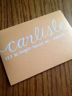 Hand Lettered Envelope by DMPaperCompany on Etsy, $2.00