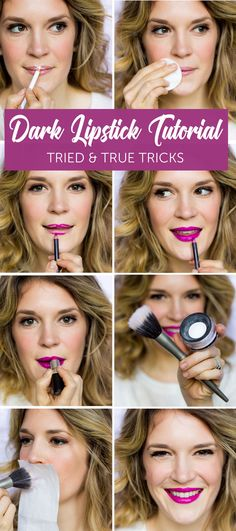 DARK LIPSTICK TUTORIAL | EASY MAKEUP | SIMPLE MAKEUP TIPS | LIPSTICK TIPS AND TRICKS | BELLE MEETS WORLD | EASY MAKEUP TUTORIAL #lipsticktutorlas