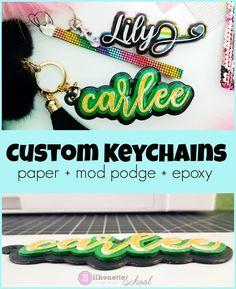 Custom Keychains: Paper + Mod Podge + Epoxy