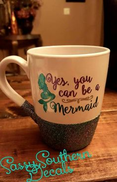 Glitter Coffee Cup by SassyDecals on Etsy
