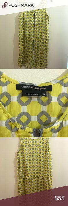 BCBGMaxAzria Yellow Women's Dress Size M Great condition and super cute and flowy! BCBGMaxAzria Dresses Mini