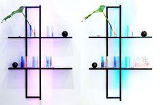 KAJO - shelves with light - Elina Ulvio Couches, Sofas, Decorative Lighting, Shelves, Armchairs, Light Decorations, Modern Lighting, Finland, Frame
