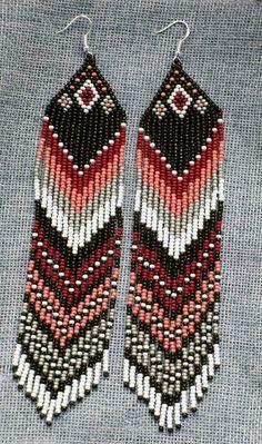 Native American Beaded Earrings long multicolor seed bead Earrings New 3 | Jewelry & Watches, Ethnic, Regional & Tribal, Native American | eBay!