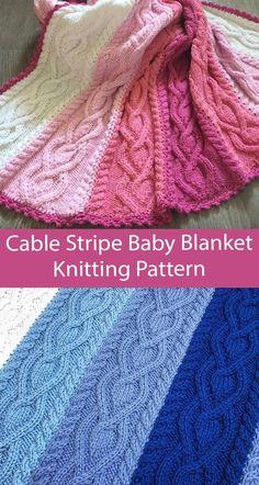 Intarsia Knitting, Cable Knitting, Beginner Knitting, Easy Knitting, Knitting Stitches, Chevron Baby Blankets, Knitted Baby Blankets, Knit And Crochet Now, Baby Knitting Patterns