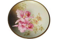 Hand-Painted Orchid Plate on OneKingsLane.com