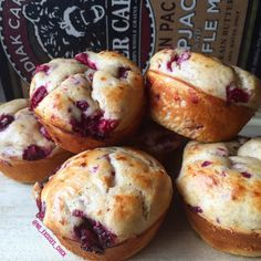 RASPBERRY PROTEIN PANCAKE MUFFINS --**  -- will use applesauce instead of oil