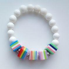 White agate #jewelry #fashion #agatebraslet