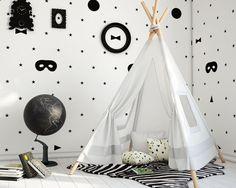 Chambre d'enfant noir et blanc