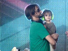 Ricardo Villalobos & his little boy <3