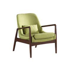 Baxton Studio Carter Mid-Century Modern Upholstered Leisure Arm Chair | Wayfair $374.00