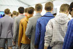 Backstage at the Louis Vuitton Men's Spring/Summer 2014 Fashion Show. ©Louis Vuitton / Matthieu Dortomb