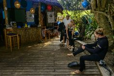 Guests at the dive centre at Thonga Beach Lodge preparing for a dive in the waters of KwaZuluNatal, South Africa
