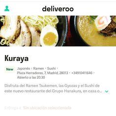 #Kuraya en tu casa con @deliveroo_es. Usa en código HANATOKURA para obtener un descuento en tu pedido.
