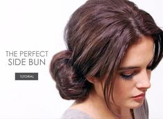 The Perfect Side Bun Tutorial » Escentual's Beauty Buzz