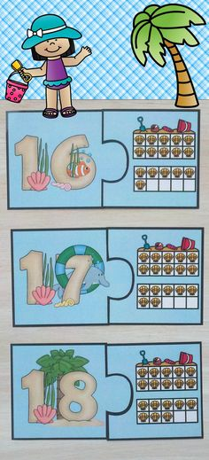 Beach Number Puzzles Numerals to 20 Distance Learning Number Puzzles, Math Numbers, School Site, School Stuff, Teaching Materials, Teaching Ideas, Teacher Resources, School Resources, Math Tubs