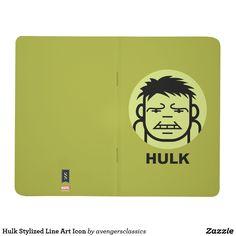 Hulk Stylized Line Art Icon