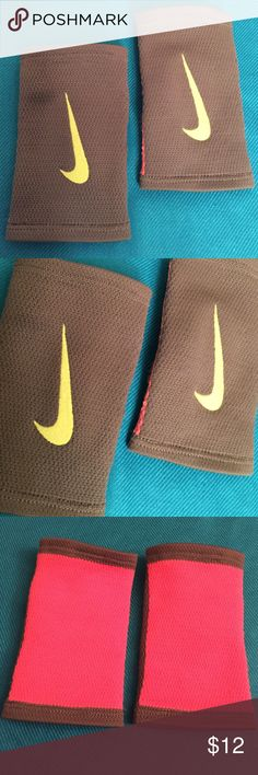 ONLY 1 Pair! Nike Stealth Doublewide Wristbands Authentic Nike Dri-Fit Stealth Doublewide Wristbands, 1 Pair. Unisex. Grey with Volt Swoosh Logos on the Fronts. Bright Orange on the Backs. Open Pique Knit Design. Single Layer, Low Profile Pile. 95% Nylon/4% Rubber/1% Spandex. Brand New in Original Packaging. Excellent Condition. No Trades. Nike Accessories