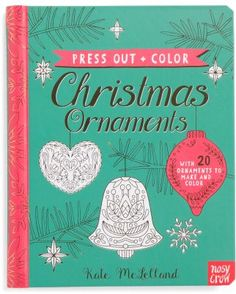 Kids press out and color Christmas ornament book. #aff #tradition #diy #fun #decorate #memories #craft #winter #holiday