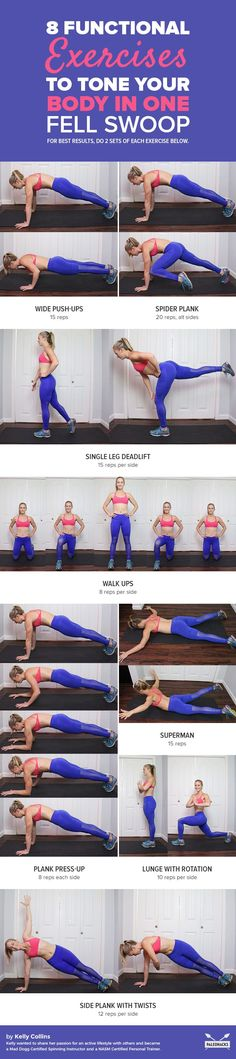 Tone your body from every angle with these 8 easy, functional moves. Get the full workout here: http://paleo.co/functionalexercises