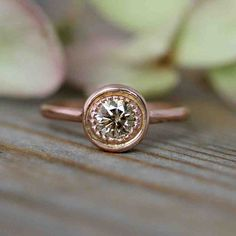 Pink Champagne Diamond Engagement Rings