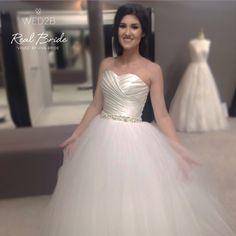 80aa38ee1521 We love this wonderful photo of real bride Maria in 'Velez' by Viva Bride