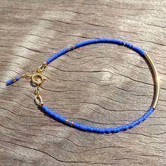 Bracelet fin en perles Miyuki 11/0 et fermoir en gold filled : Bracelet par missmel