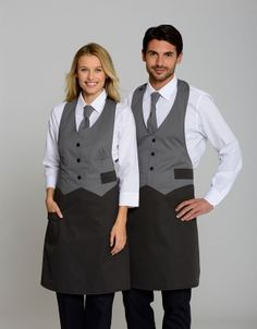 Kellner Uniform, Waitress Outfit, Waiter Uniform, Hotel Uniform, Women Ties, Restaurant Design, Barista, Apron, Poses