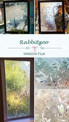 @rabbitgooing Rabbitgoo Premium No Glue 3d Static Decorative Frosted Privacy Window Films for Glass,23.6in. by 78.7in. (60 X 200cm) Upgrade Version for Home Kitchen Office